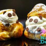 Panda Windbeutel Dessert