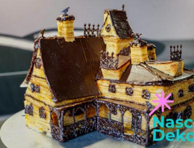 Gruseliges Baumkuchen Haus backen